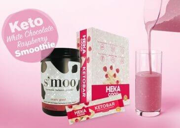 Keto White Chocolate Raspberry Hormone Balancing Smoothie